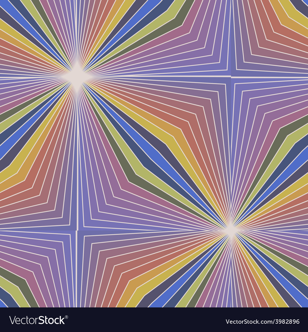 Colorful rays vector image