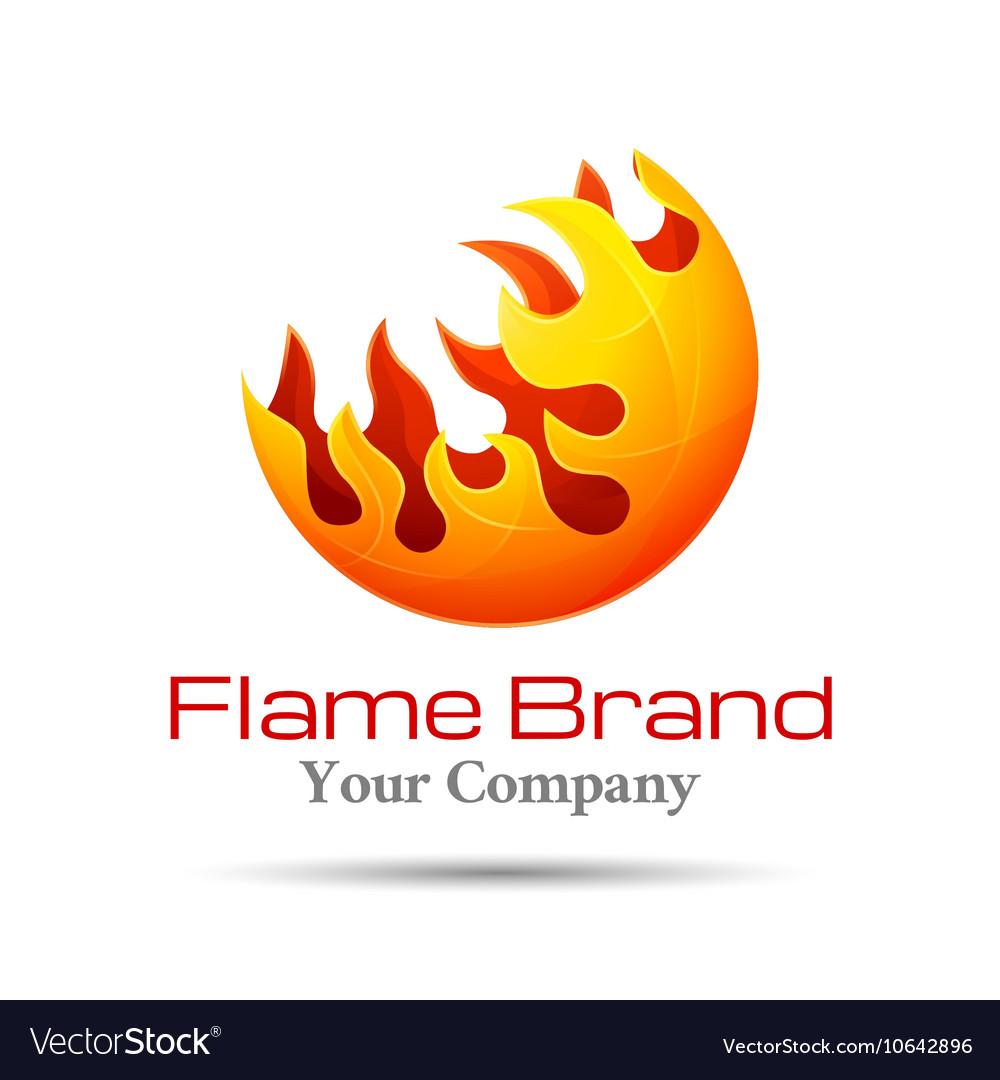 Fire Flame Logo design template Burn Royalty Free Vector