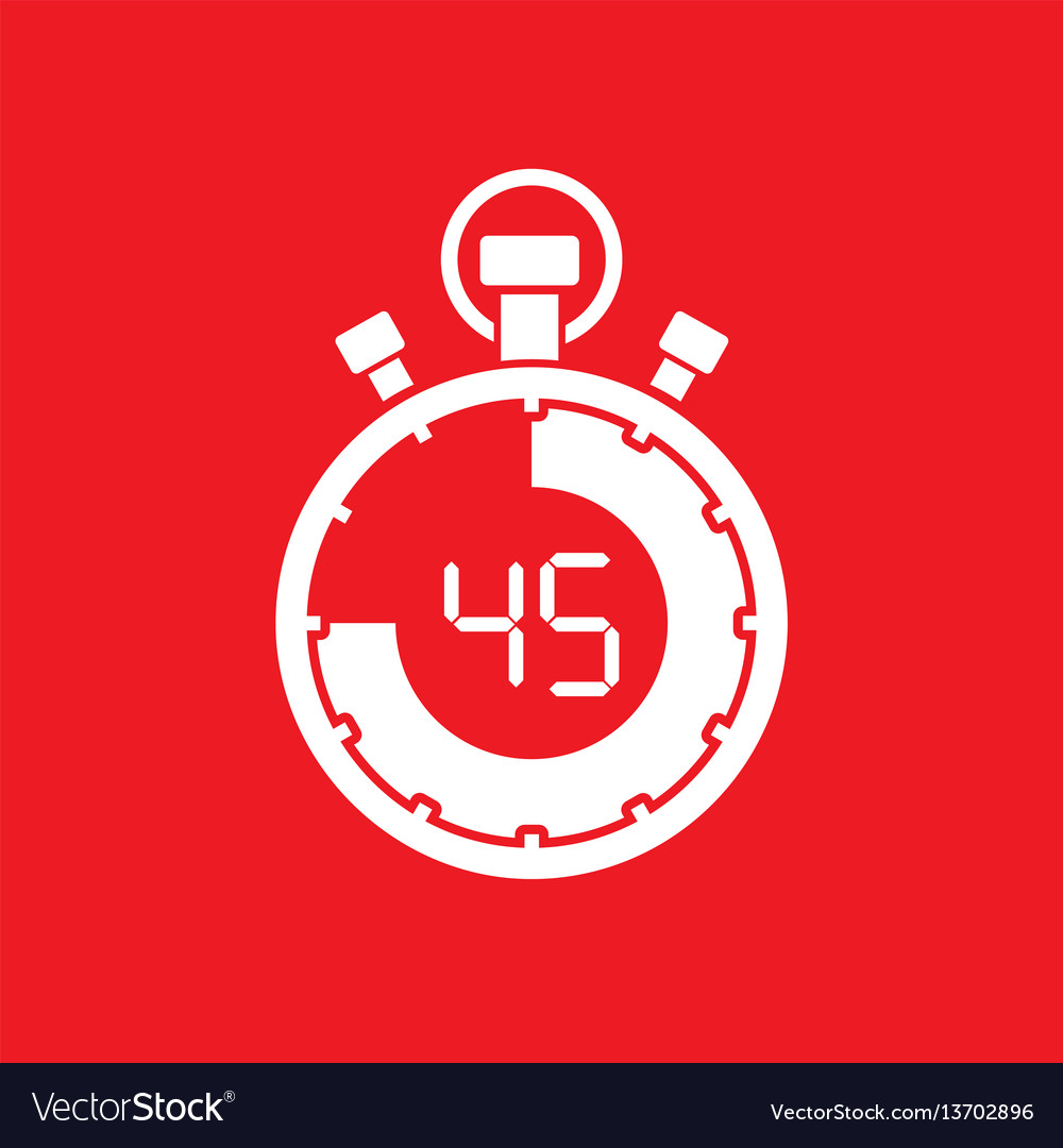 Forty five minute stop watch countdown