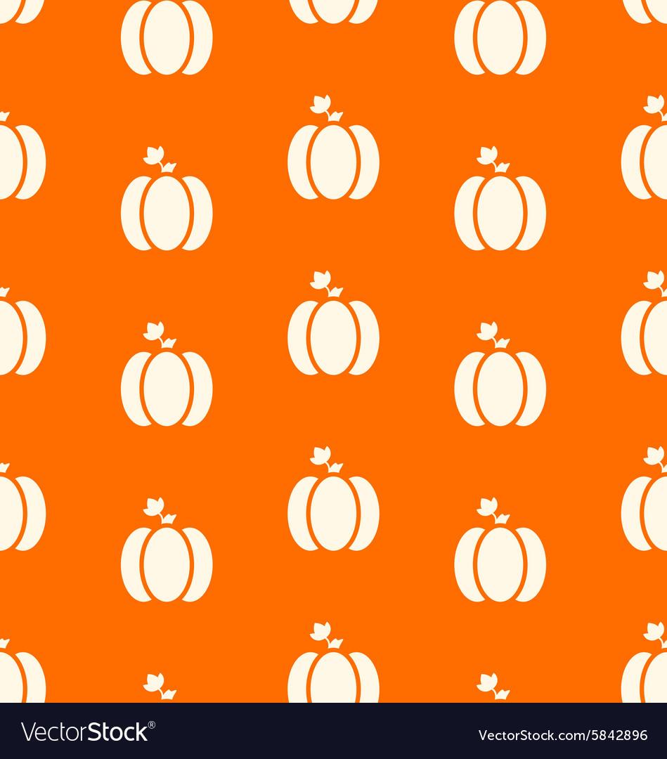 Halloween pumpkins seamless pattern Watercolor