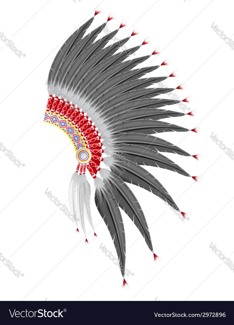 Mohawk hat of the american indians Royalty Free Vector Image 242e23cdd0e