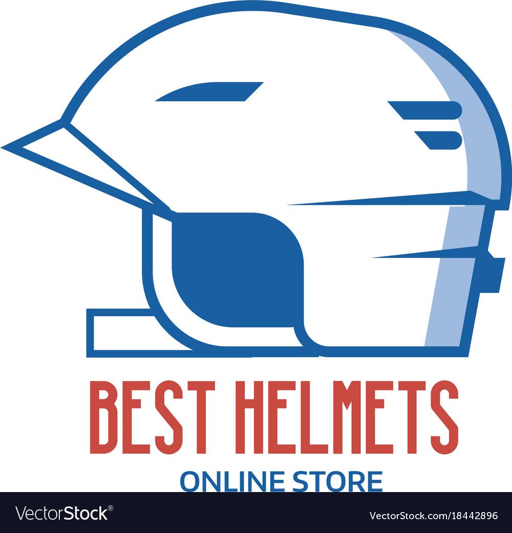 Riding helmet line icon