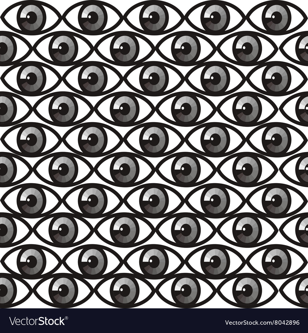 Seamless pattern with eyes