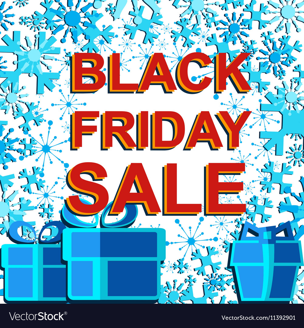 Big winter sale poster with BLACK FRIDAY SALE text