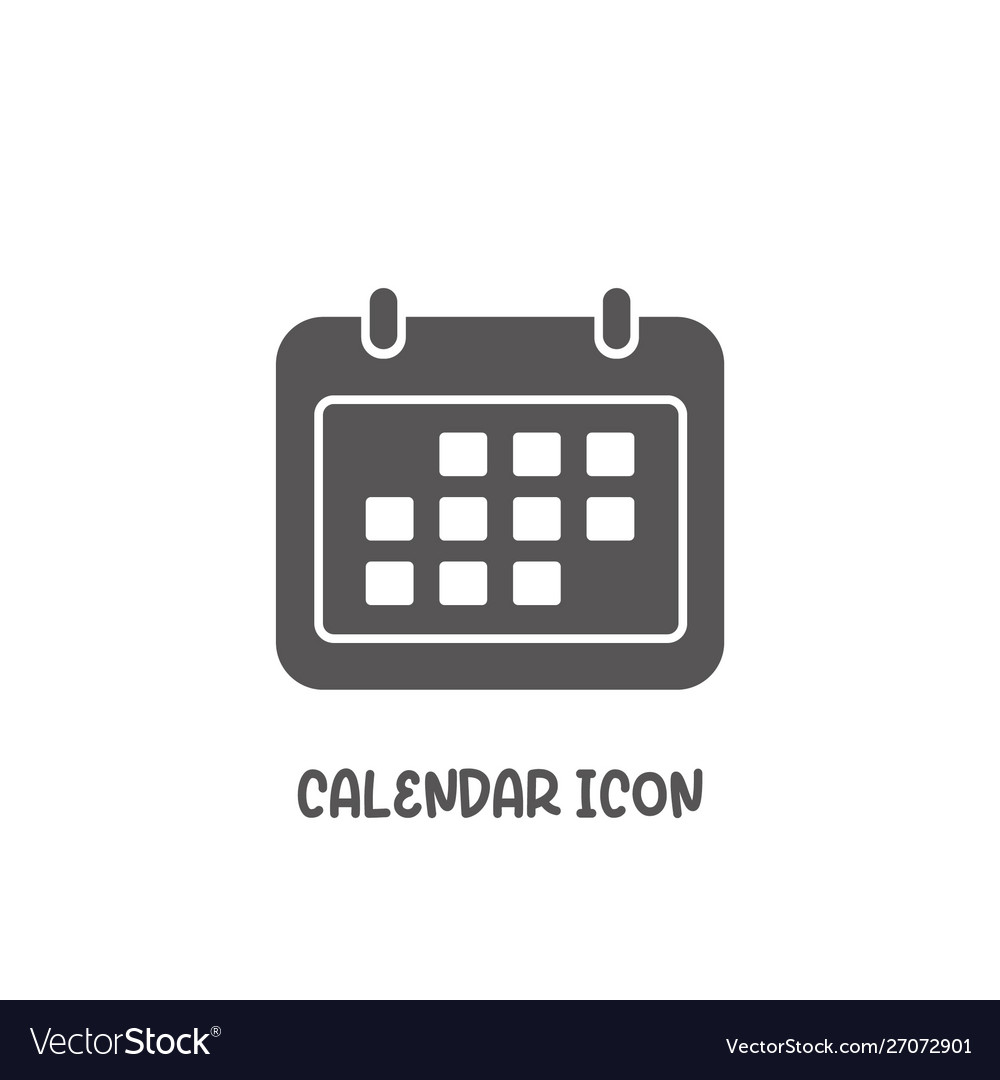 Calendar icon simple flat style