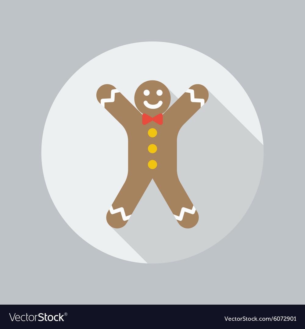 Christmas flat icon gingerbread man
