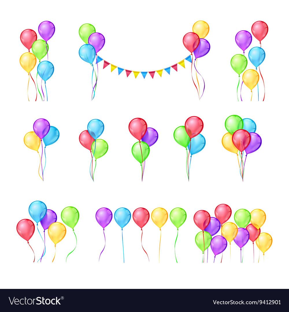 Color balloons set
