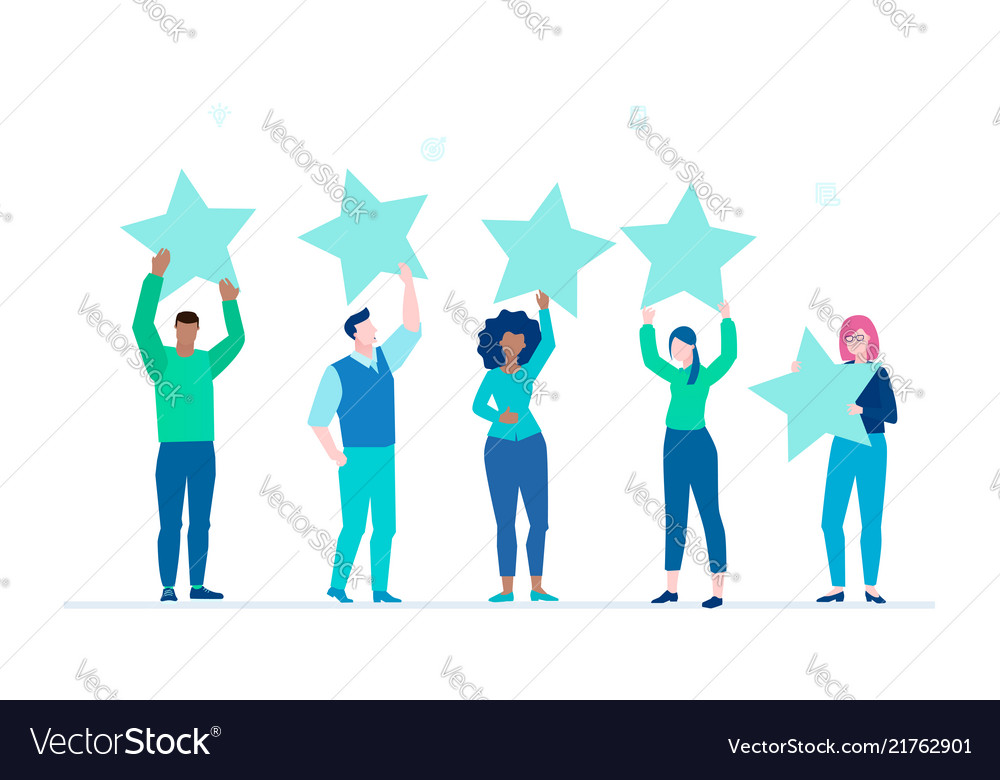 Company rating - flat design style colorful