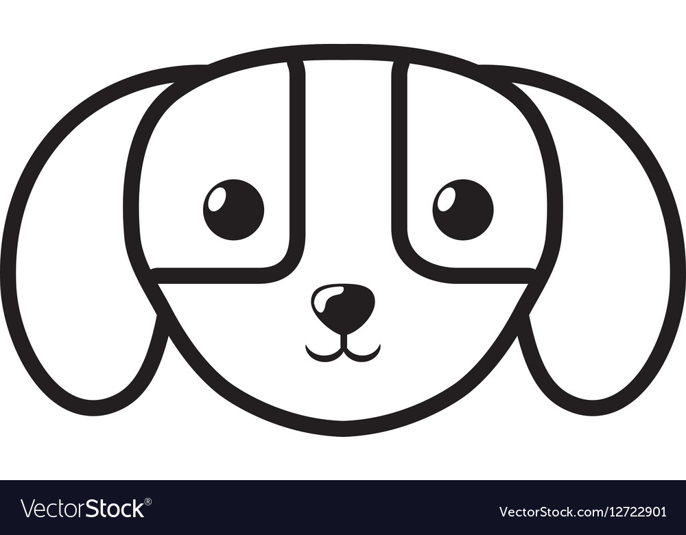 Face dog domestic mammal outline