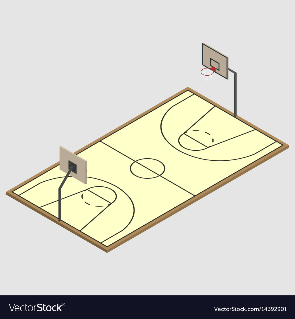Field of play basketball isometric
