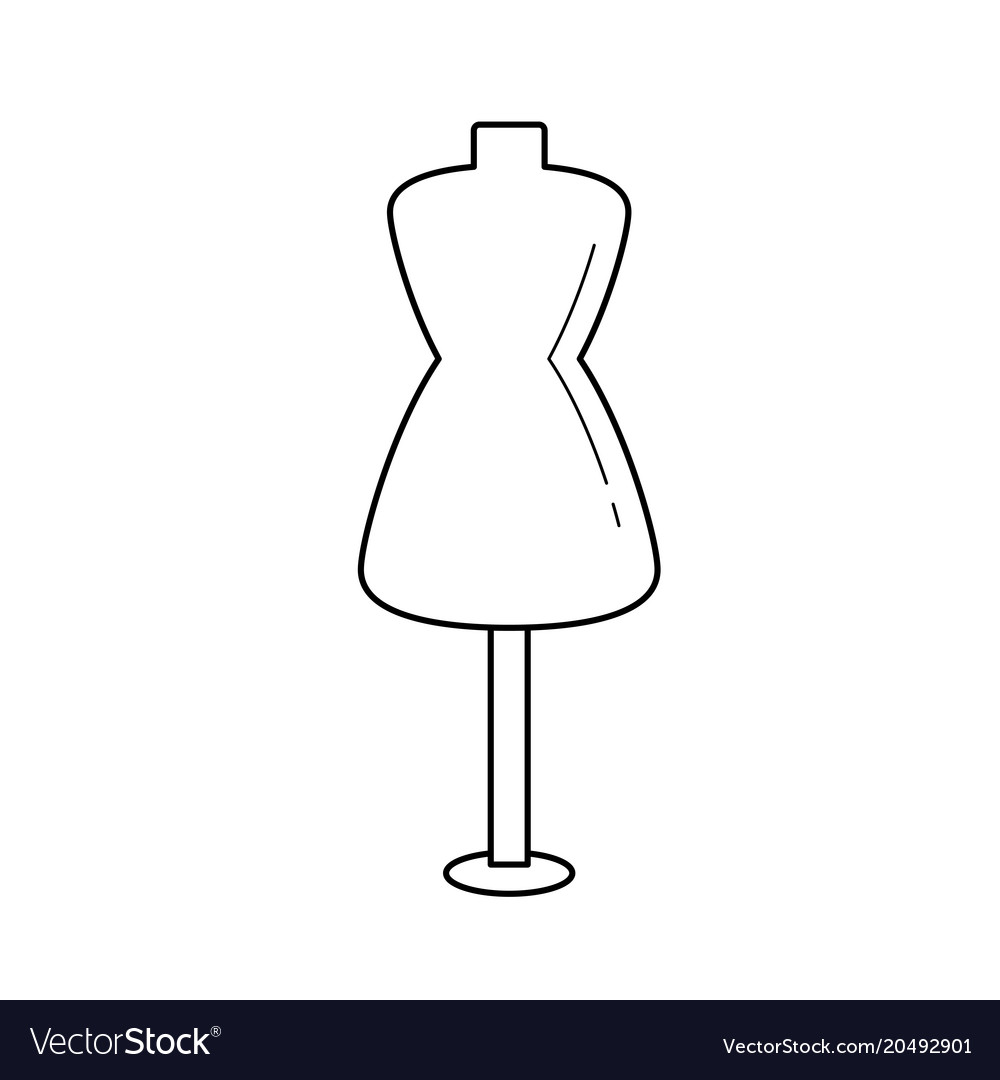 Sewing mannequin line icon