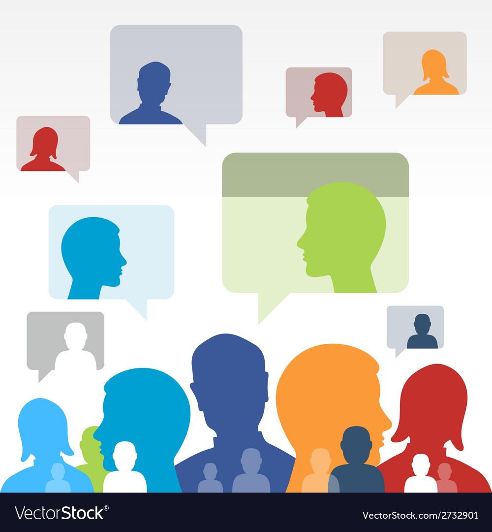 Social Media Communication vector image