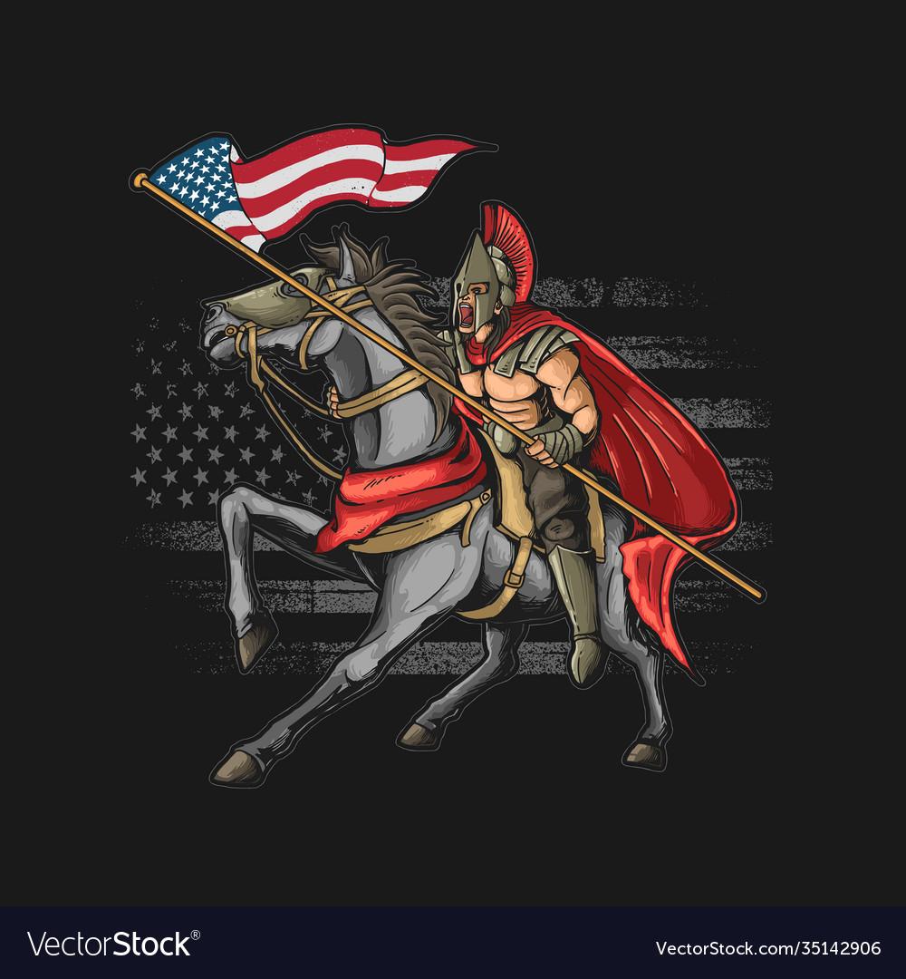 American warrior grunge graphi