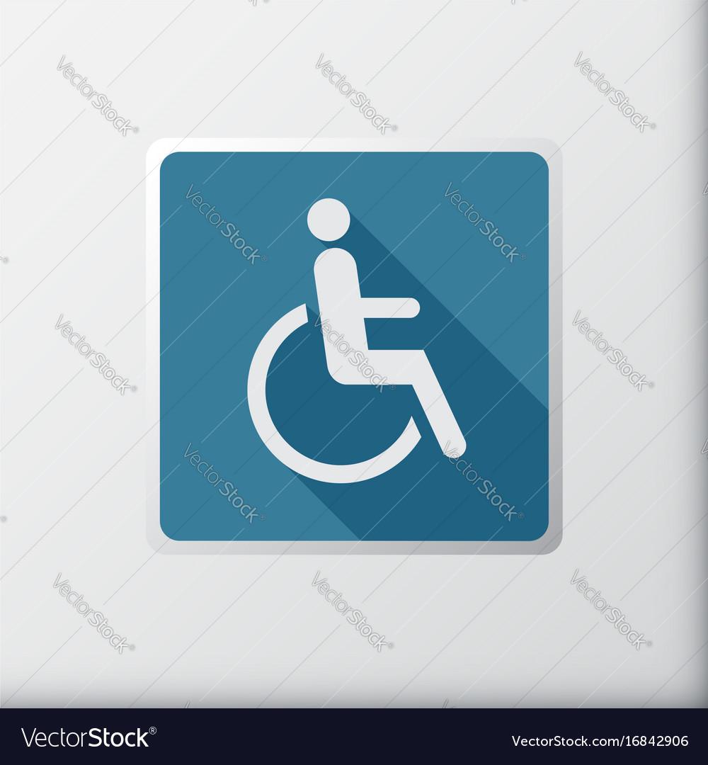 Disabled icon sign flat symbol design