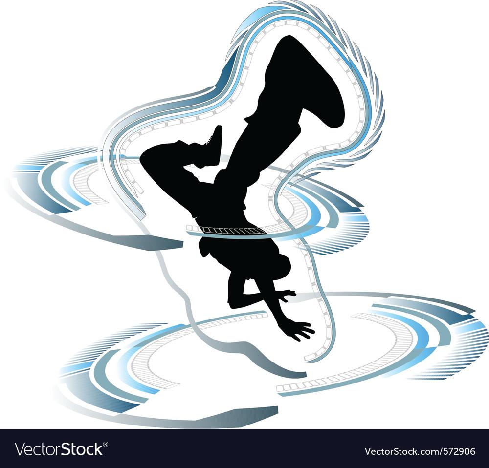 Funky breakdancer vector image