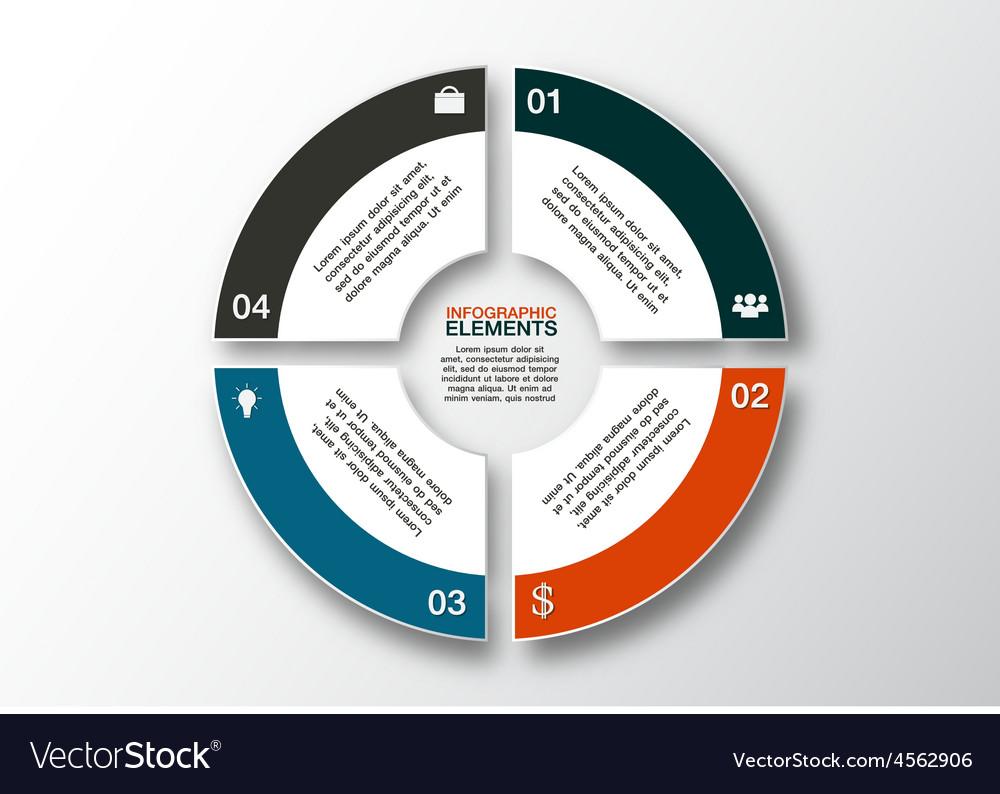 Modern business options banner circle infographics