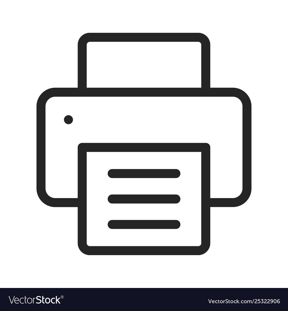 printer icon royalty free vector image vectorstock vectorstock