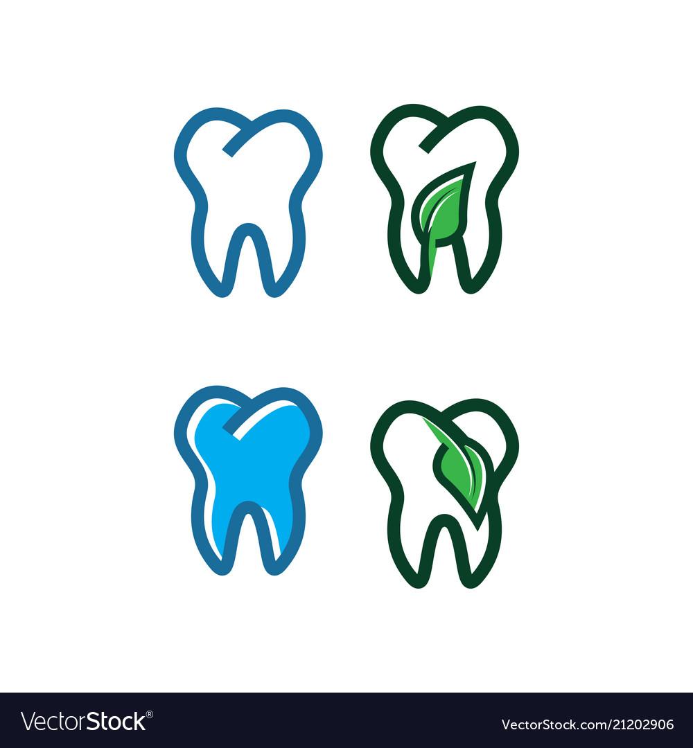 Tooth logo design template