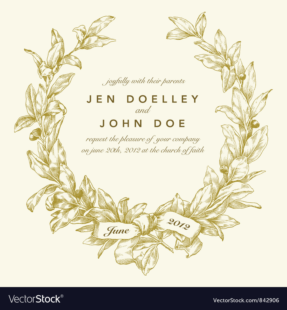 Wedding invitation templates Royalty Free Vector Image