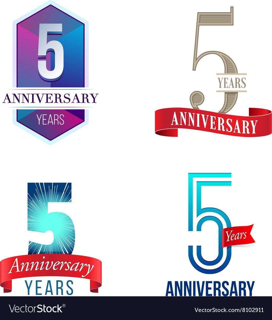 5 Years Anniversary Symbol Royalty Free Vector Image