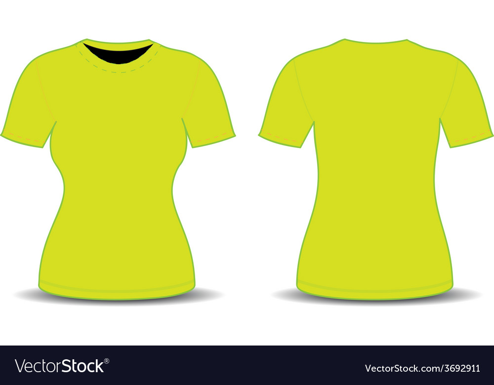 blank t shirt template royalty free vector image