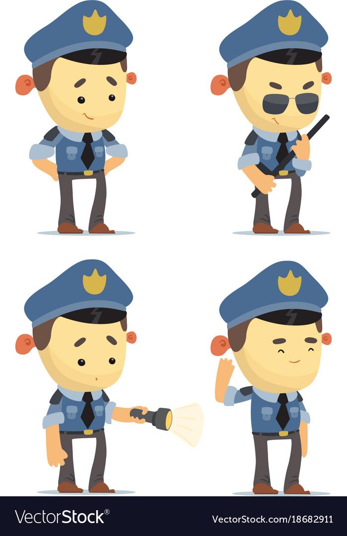 Cartoon policemen