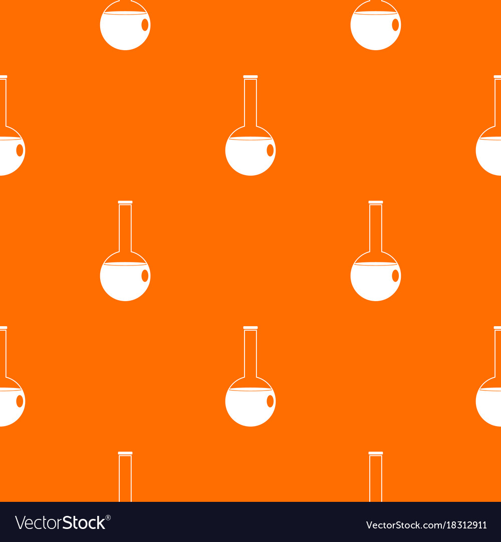 Chemical beaker pattern seamless vector image