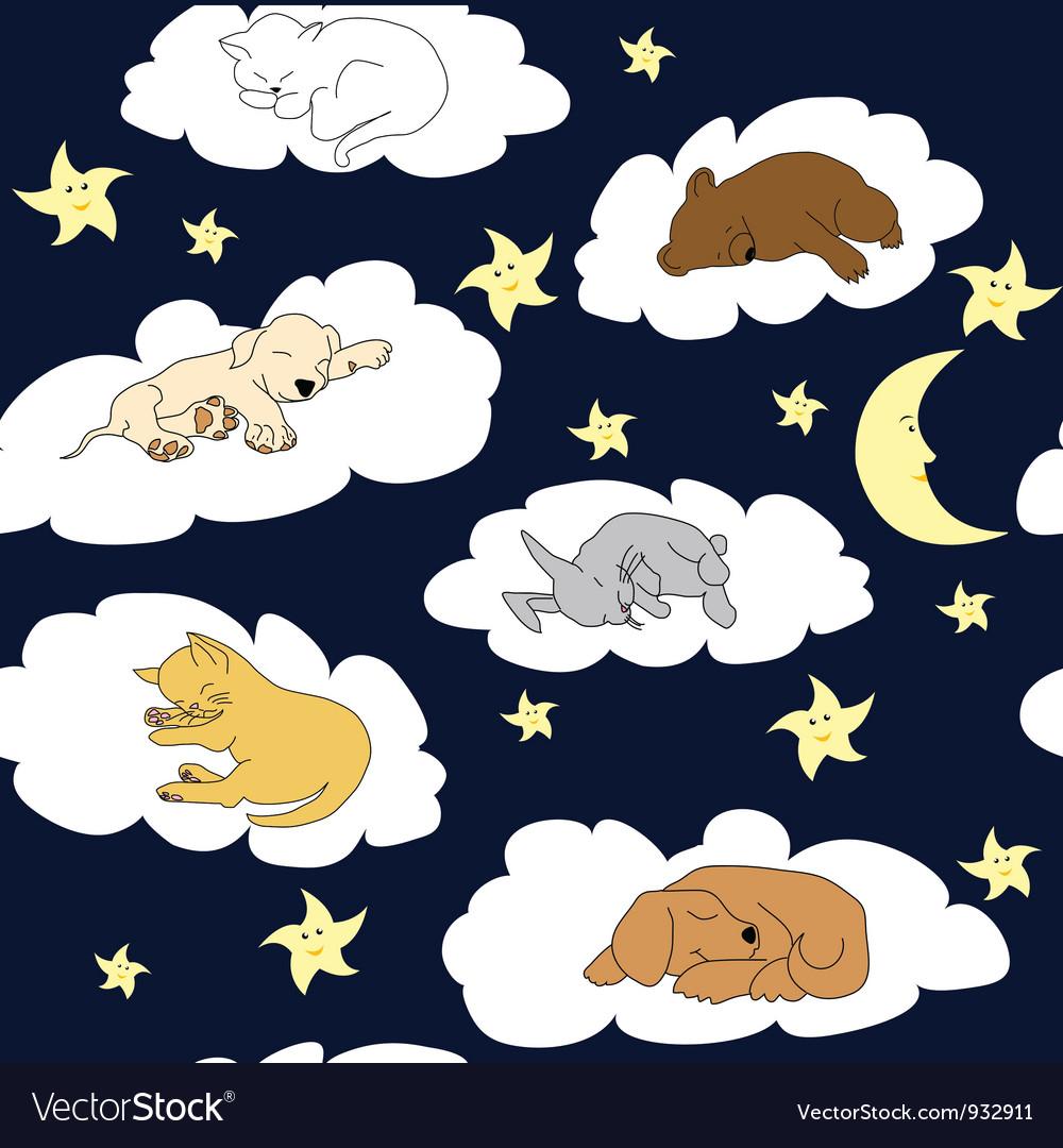 картинки животные спят на облаках