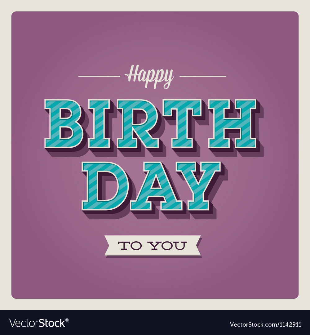 Happy birthday card font type