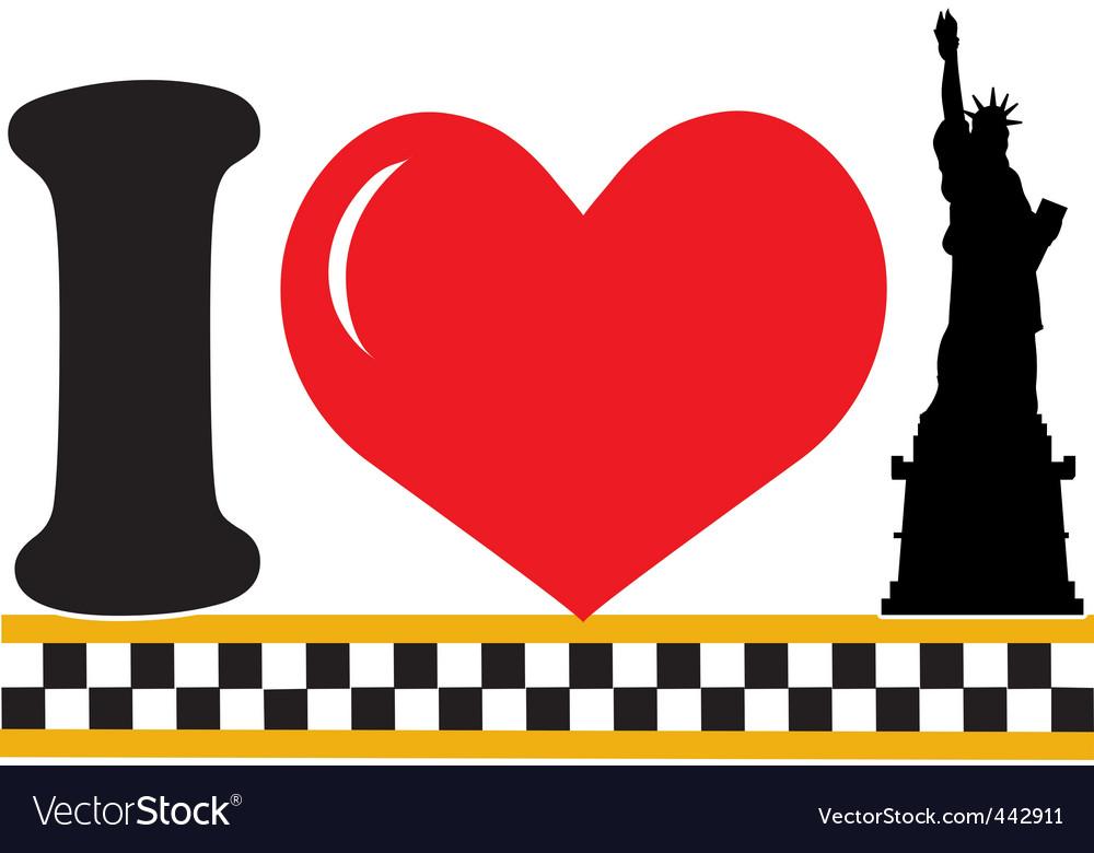 i love new york royalty free vector image - vectorstock