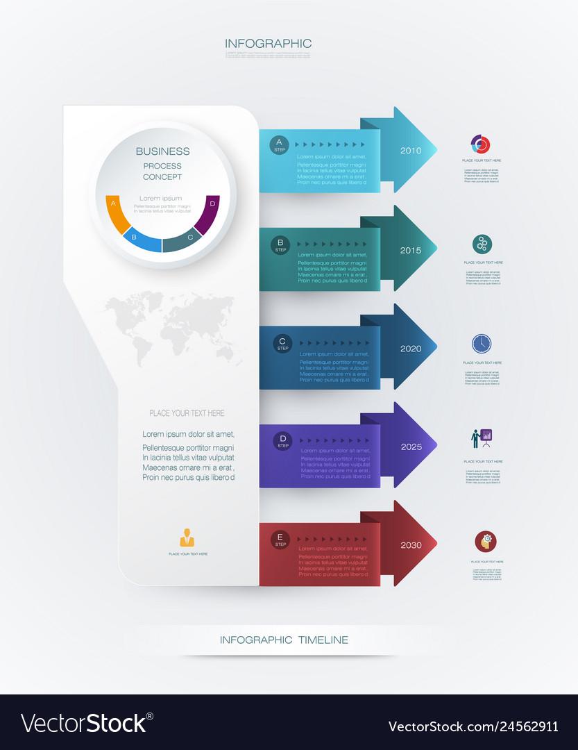 Infographics timeline design
