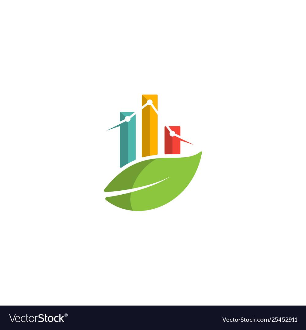 Nature chart logo design info graphic symbol icon