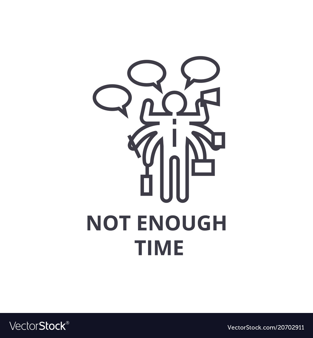 Not enough time thin line icon sign symbol