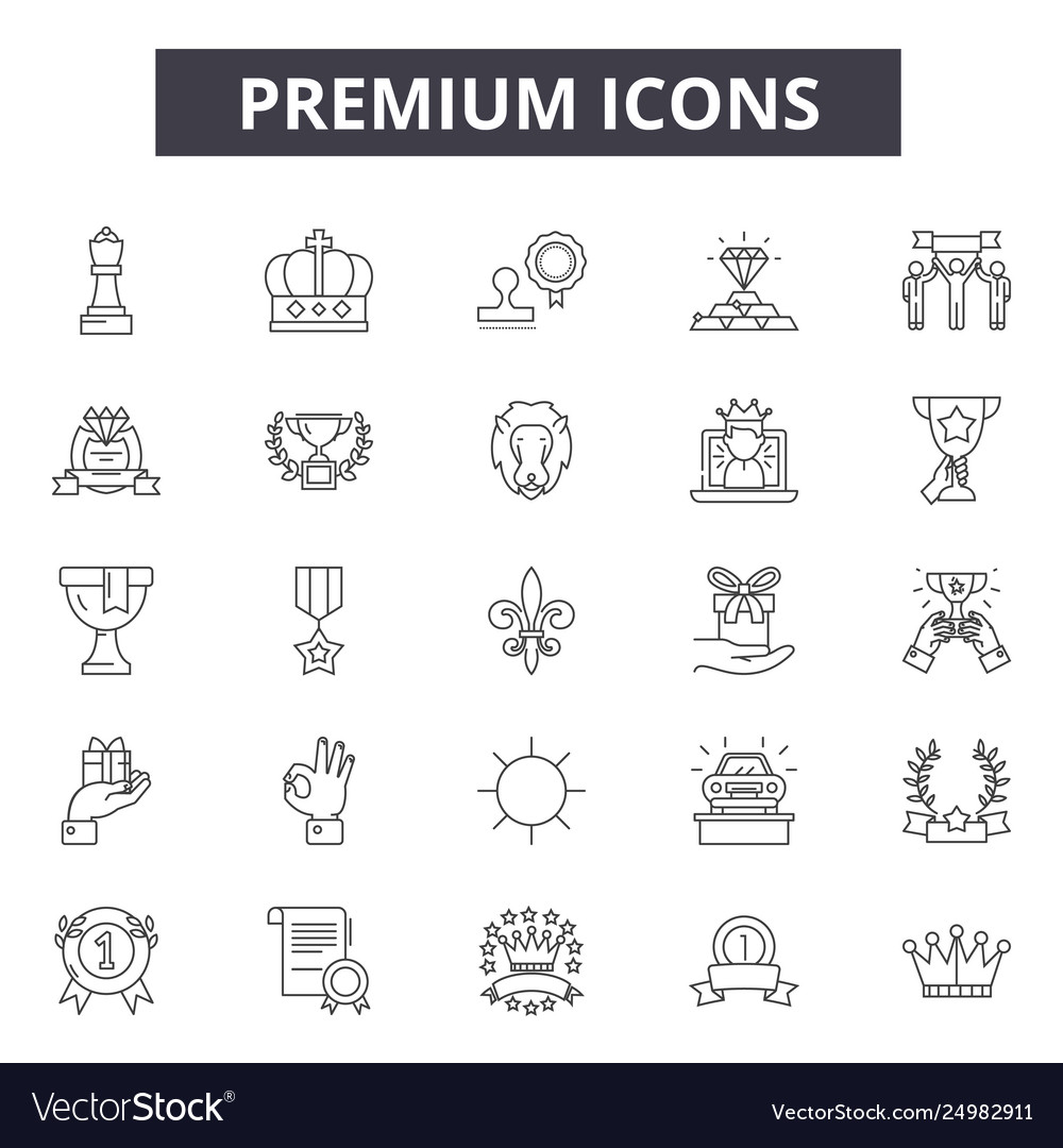 Premium line icons signs set outline