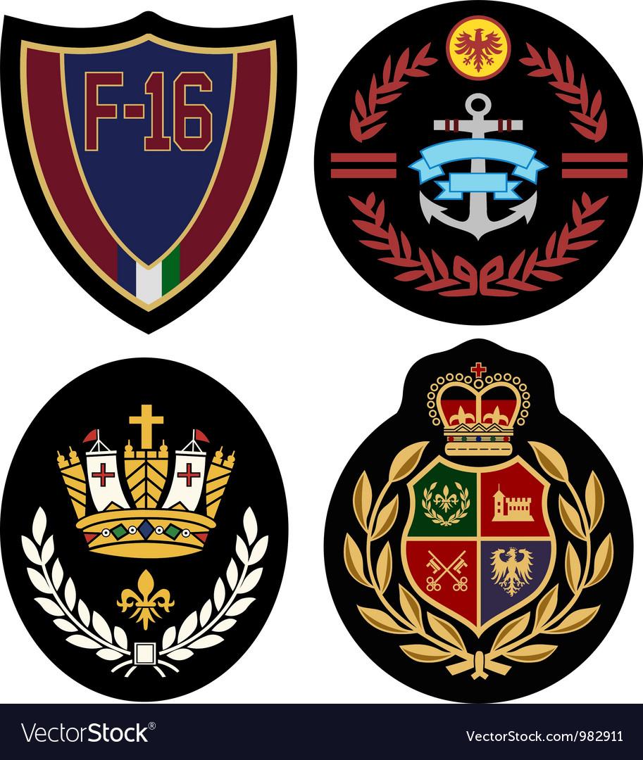 Royal badge design set