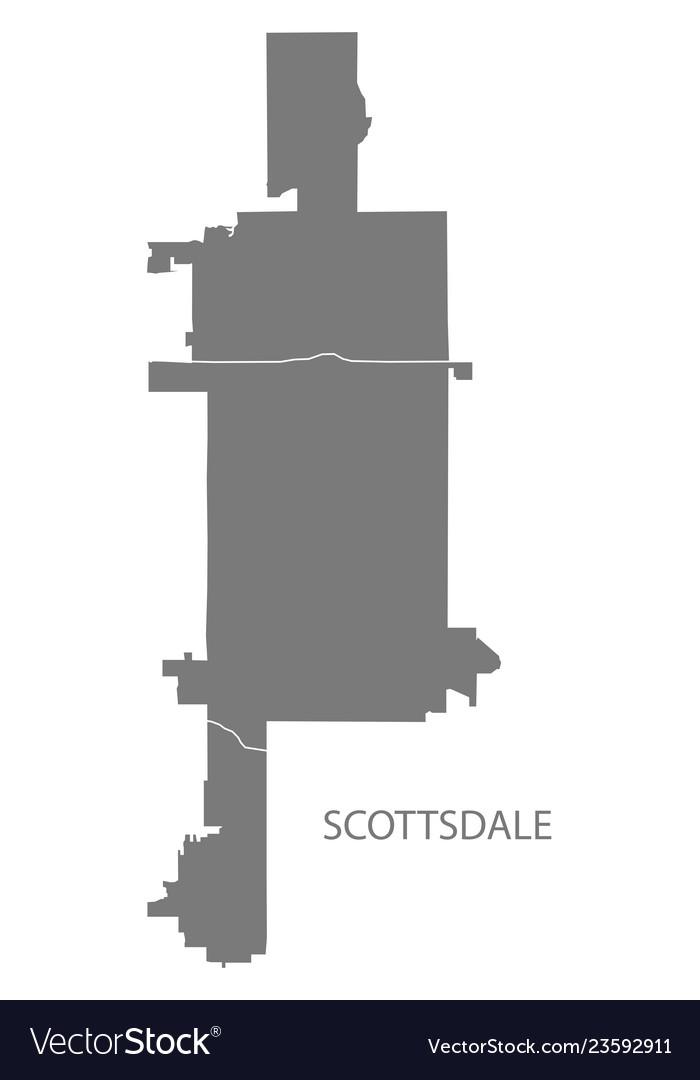 Map Of Arizona Scottsdale.Scottsdale Arizona City Map With Neighborhoods Vector Image