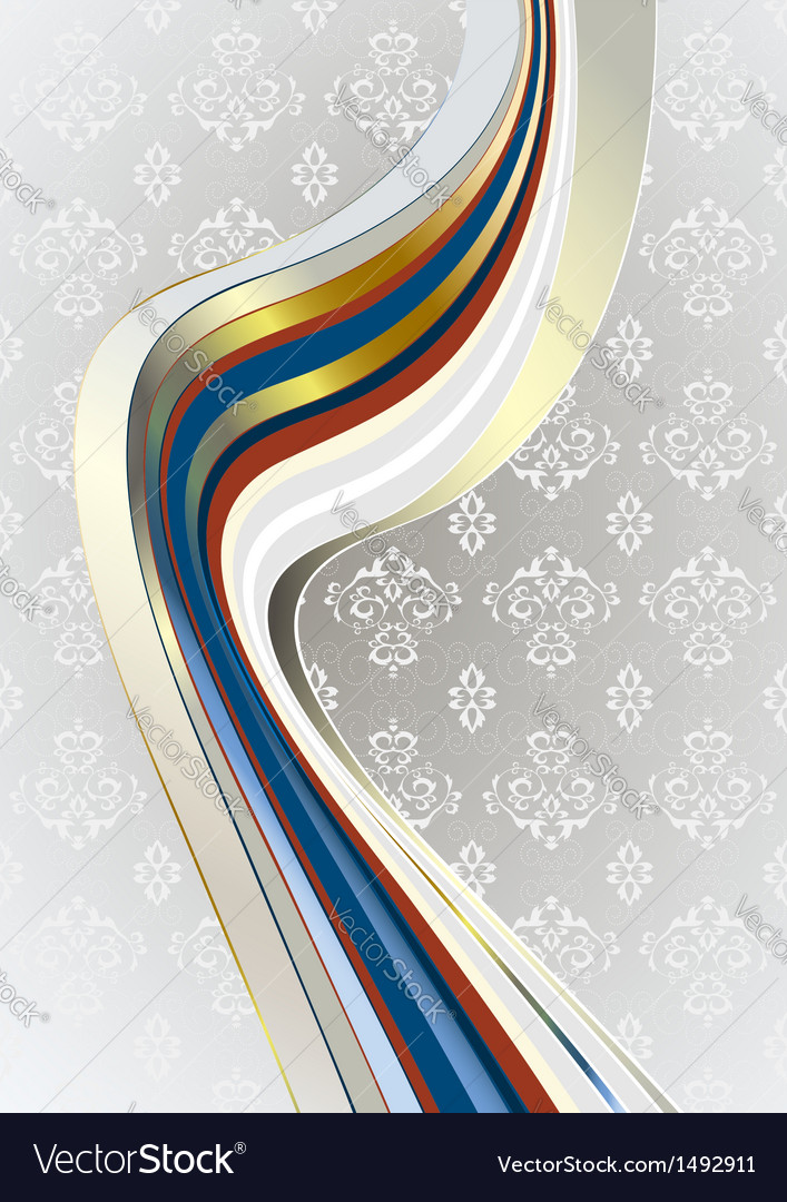 Wavy stripes on light gray patterned background vector image