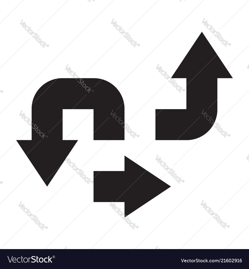 Base arrow set icon symbol black white silhouette