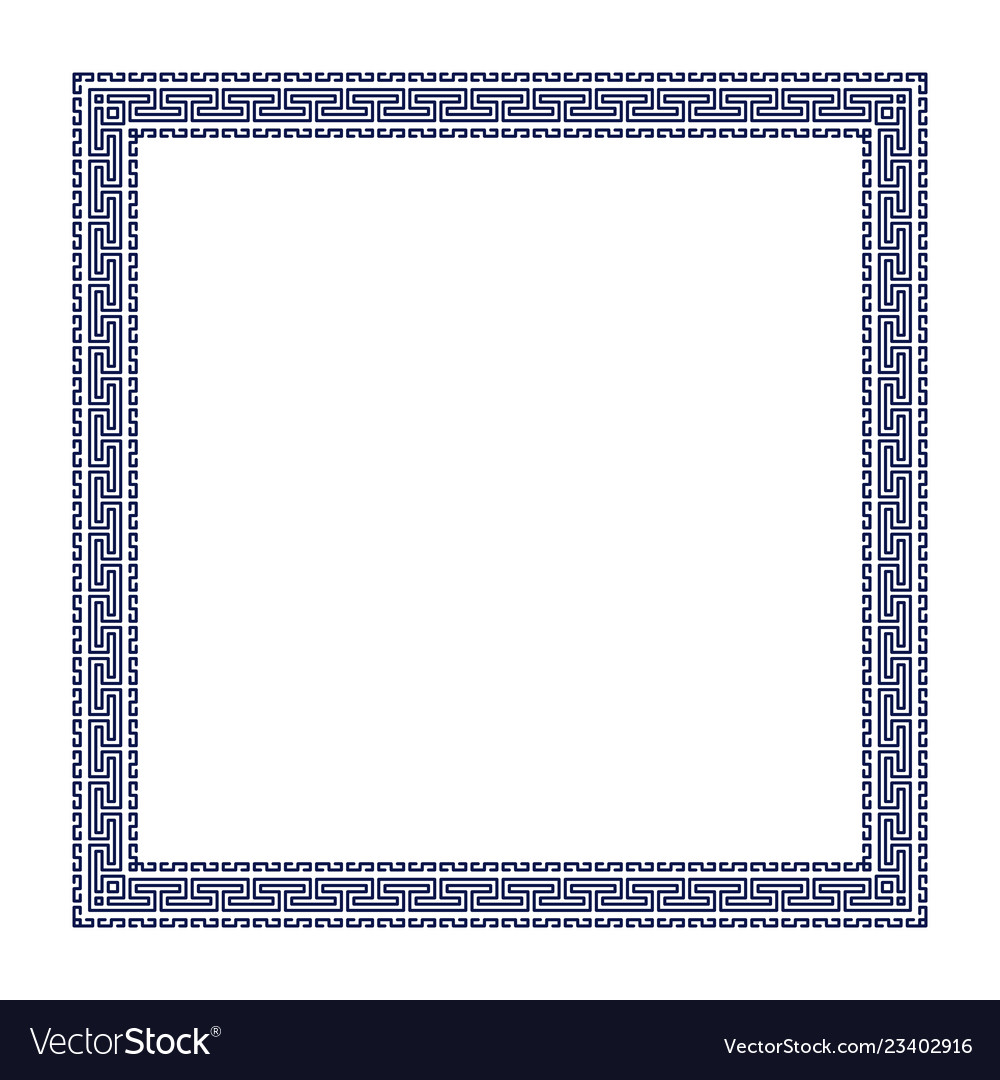Decorative greek frame