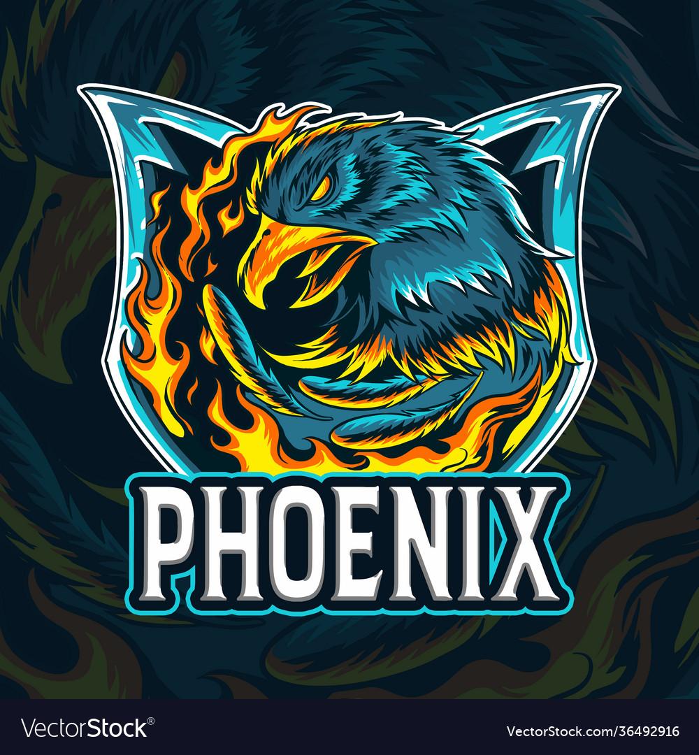 Fire eagle phoenix as an e-sport logo