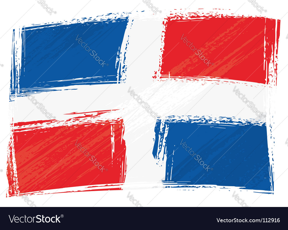 Grunge Dominican republic flag vector image