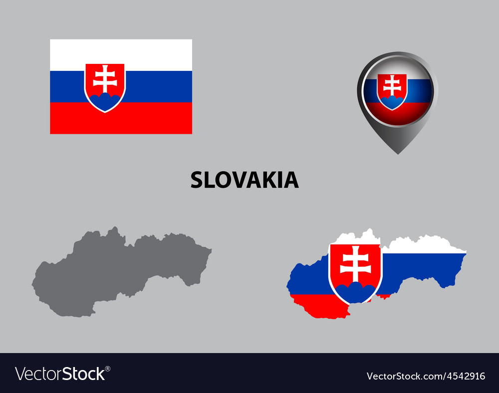 Map of Slovakia and symbol
