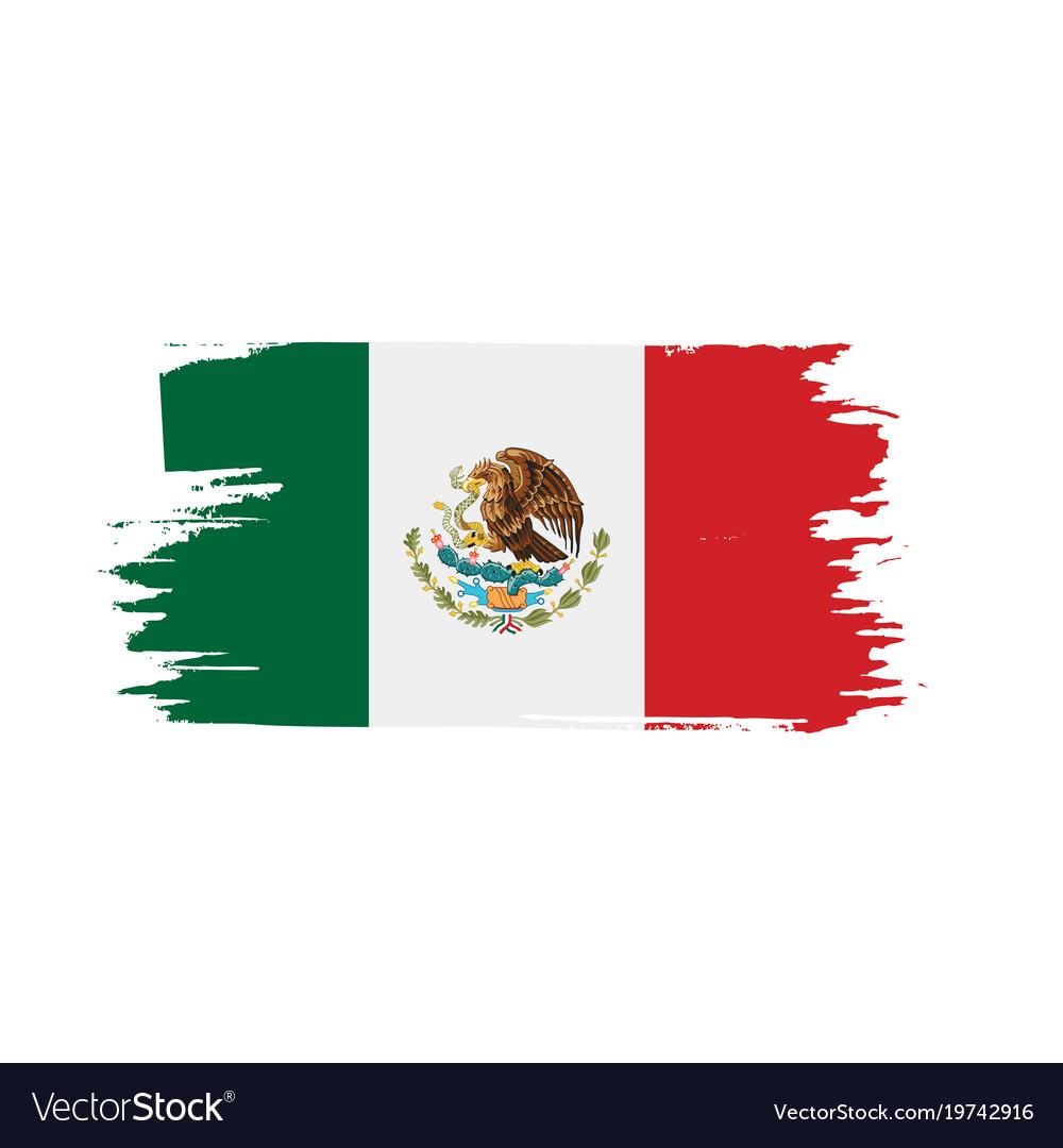 Mexican flag Royalty Free Vector Image - VectorStock