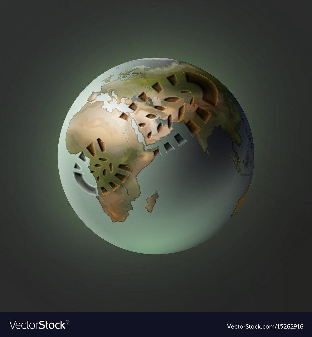 Planet with footprint