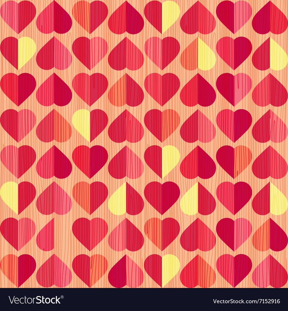 Retro heart seamless pattern