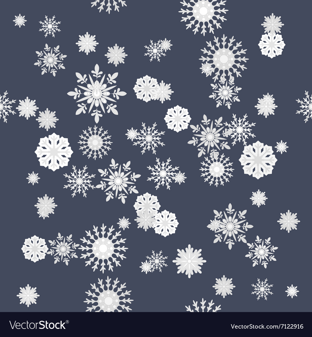Winter snowflakes seamless texture pattern