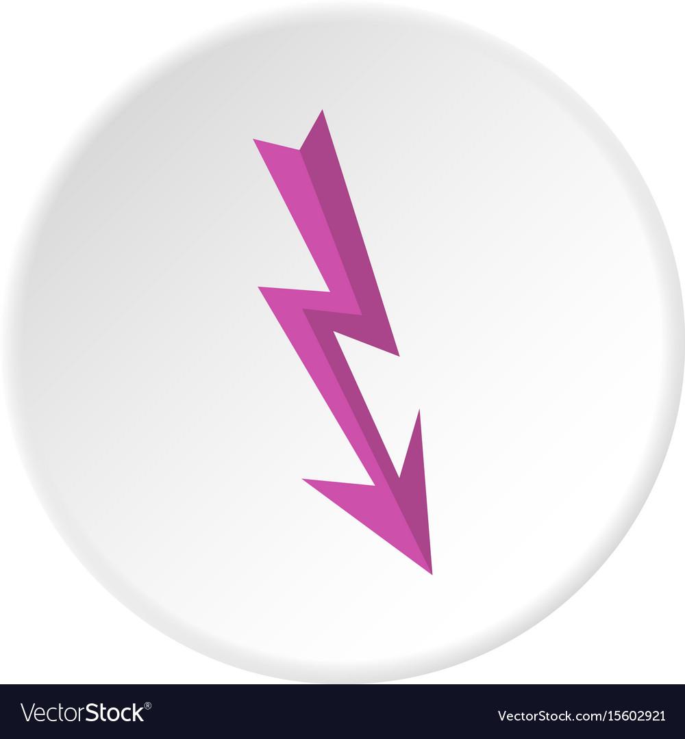 Arrow lightning icon circle