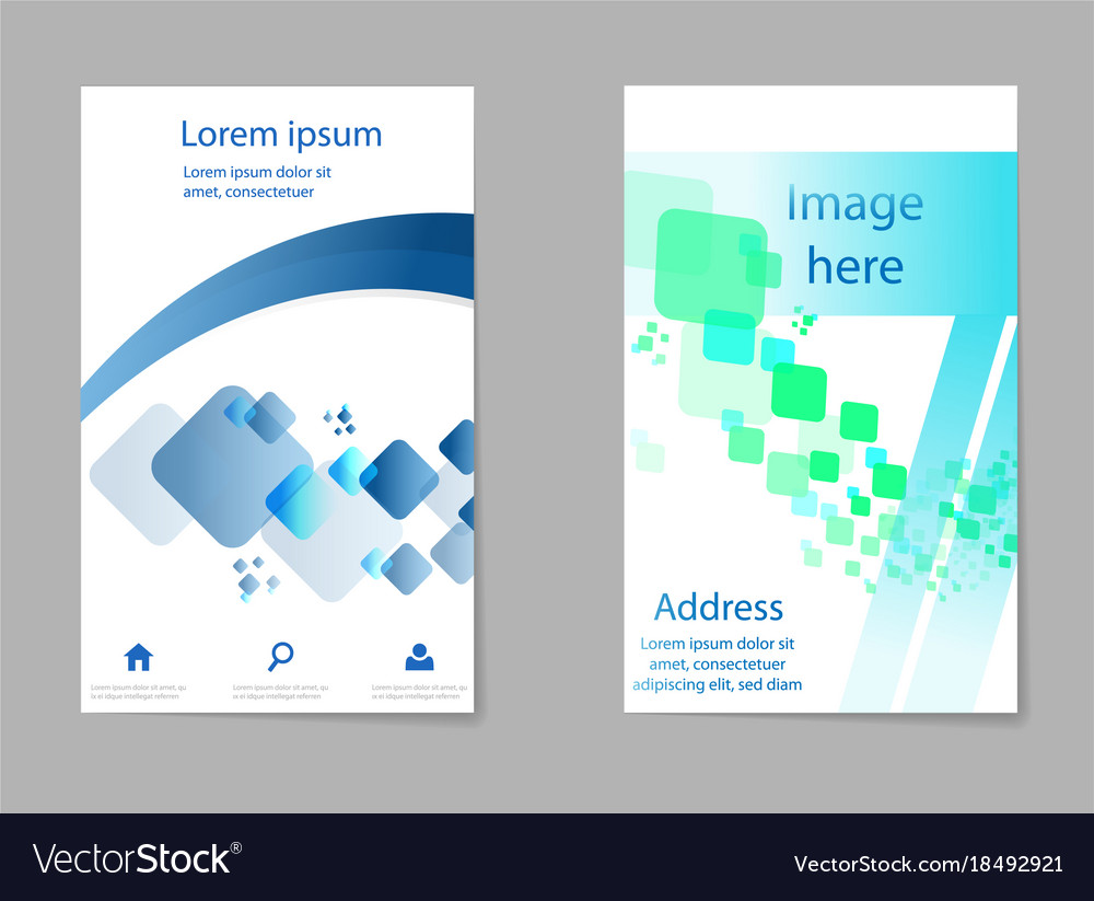 Brochure Layout Template Cover Design Background Vector Image