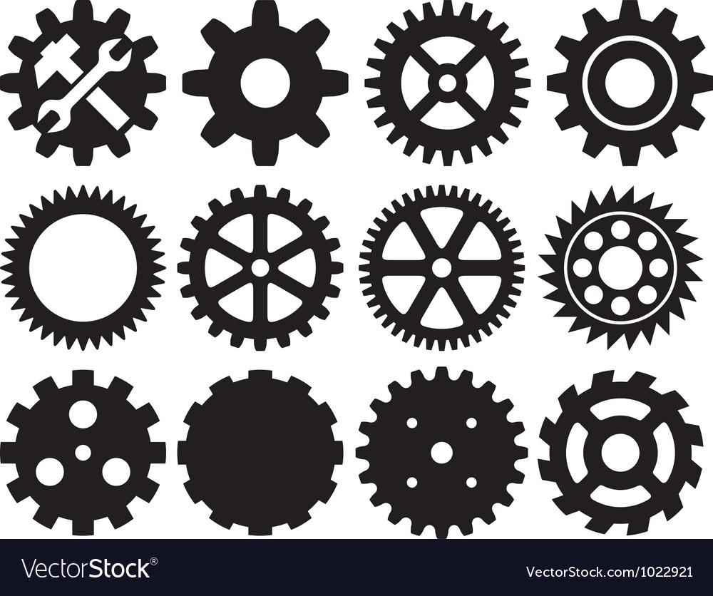 gear collection machine gear royalty free vector image rh vectorstock com gear vector photoshop gear vector art free