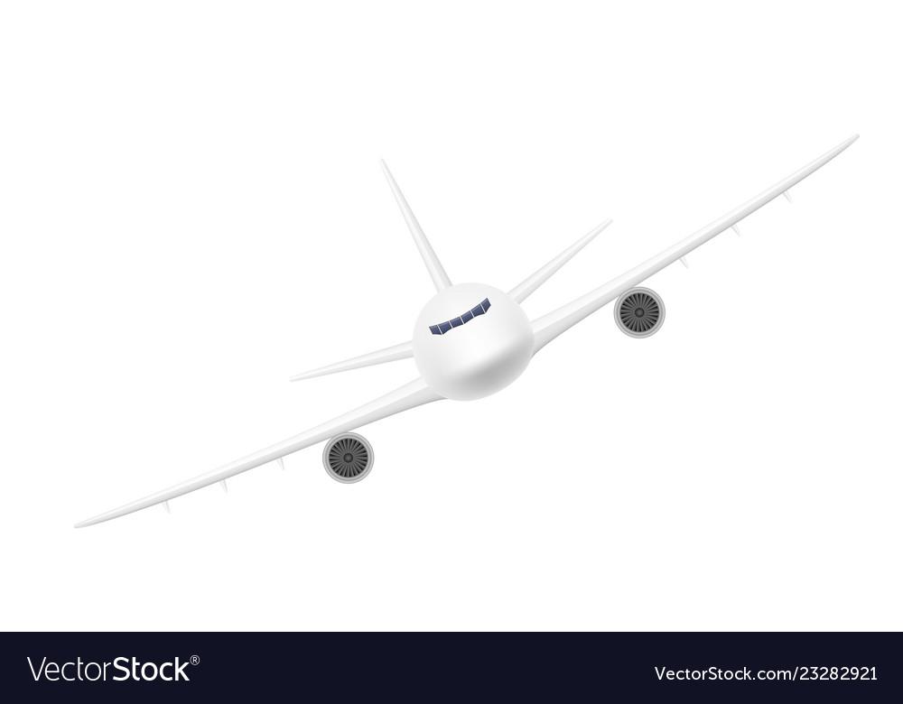 Passenger airplane stock